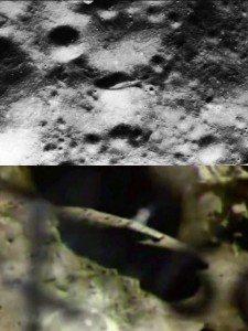 Nave spaziale aliena sulla Luna