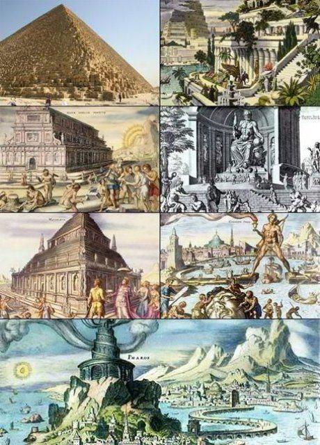 Le 7 meraviglie del Mondo Antico e quelle del Mondo Moderno